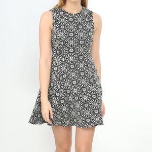 Zara Woman Floral Jacquard Dress Medium